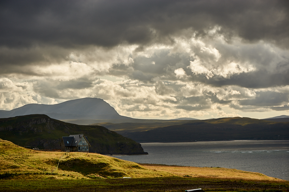 The sheperd´s hut at the end of the road in the Scottish Highlands.