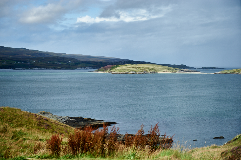 Watching the weather change over Tongue Bay, Scotland