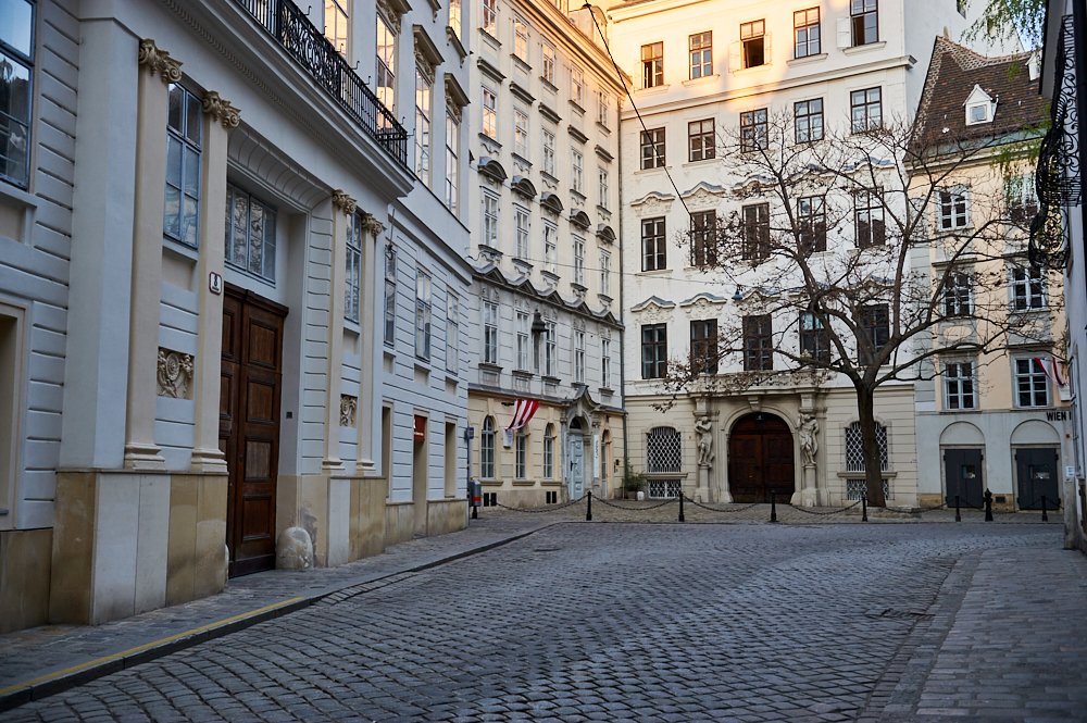 An empty Vienna during the COVID 19 restrictions in March and April 2020
