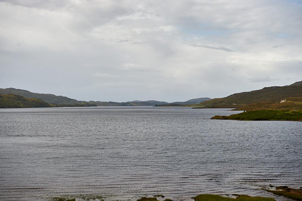 Ardvreck Castle on the shores of Loch Assynt in North-West Scotland.