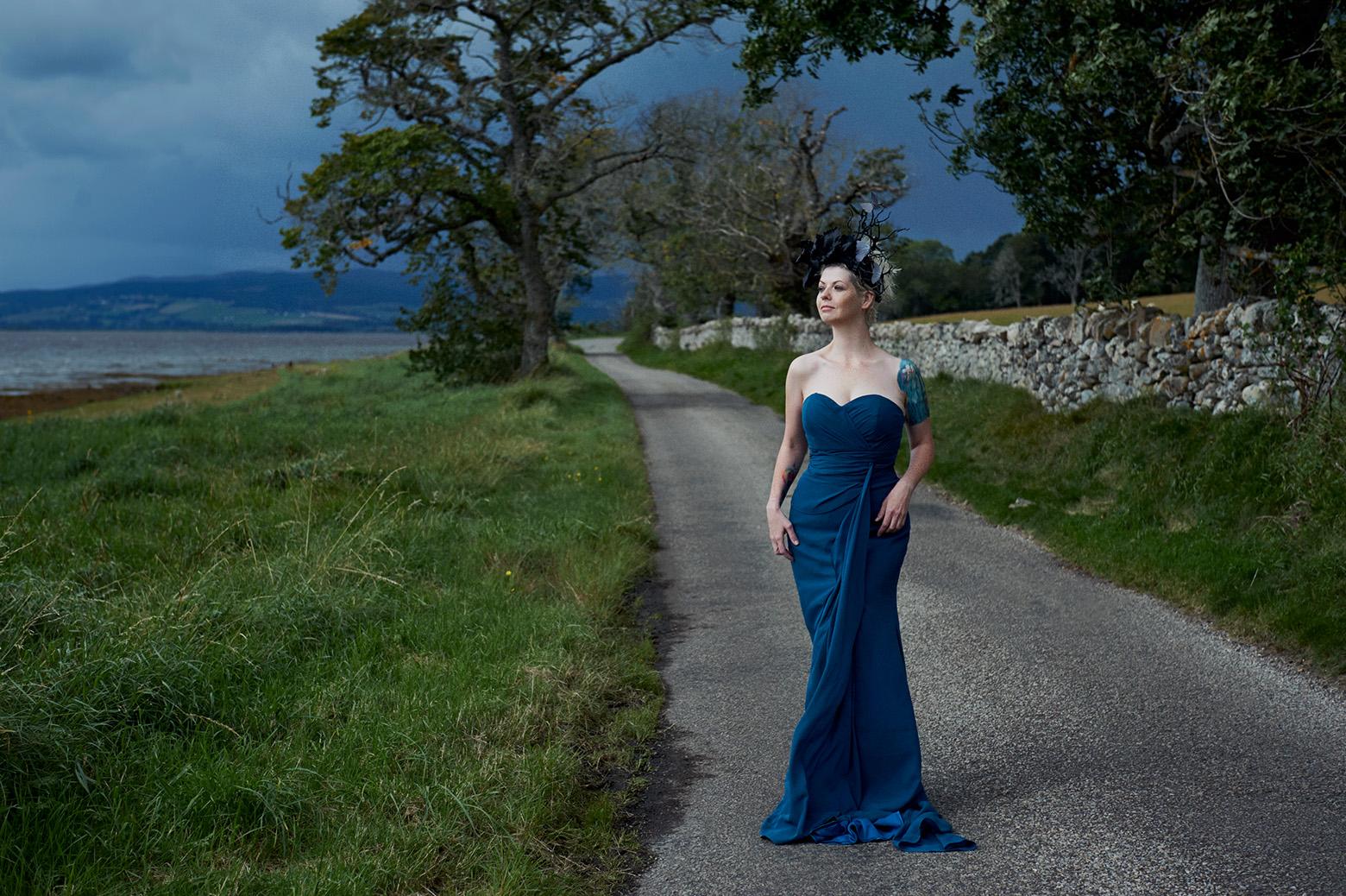 Photographin the wonderful Natalie on the Black Isle, Scotland.