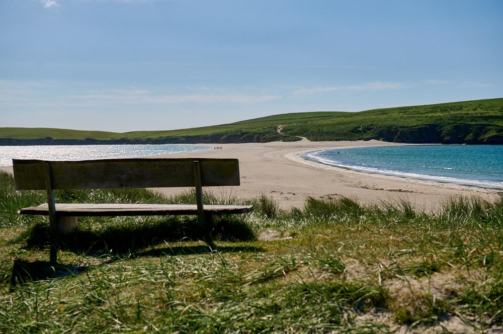 Taking a walk in Shetland, Scotland.